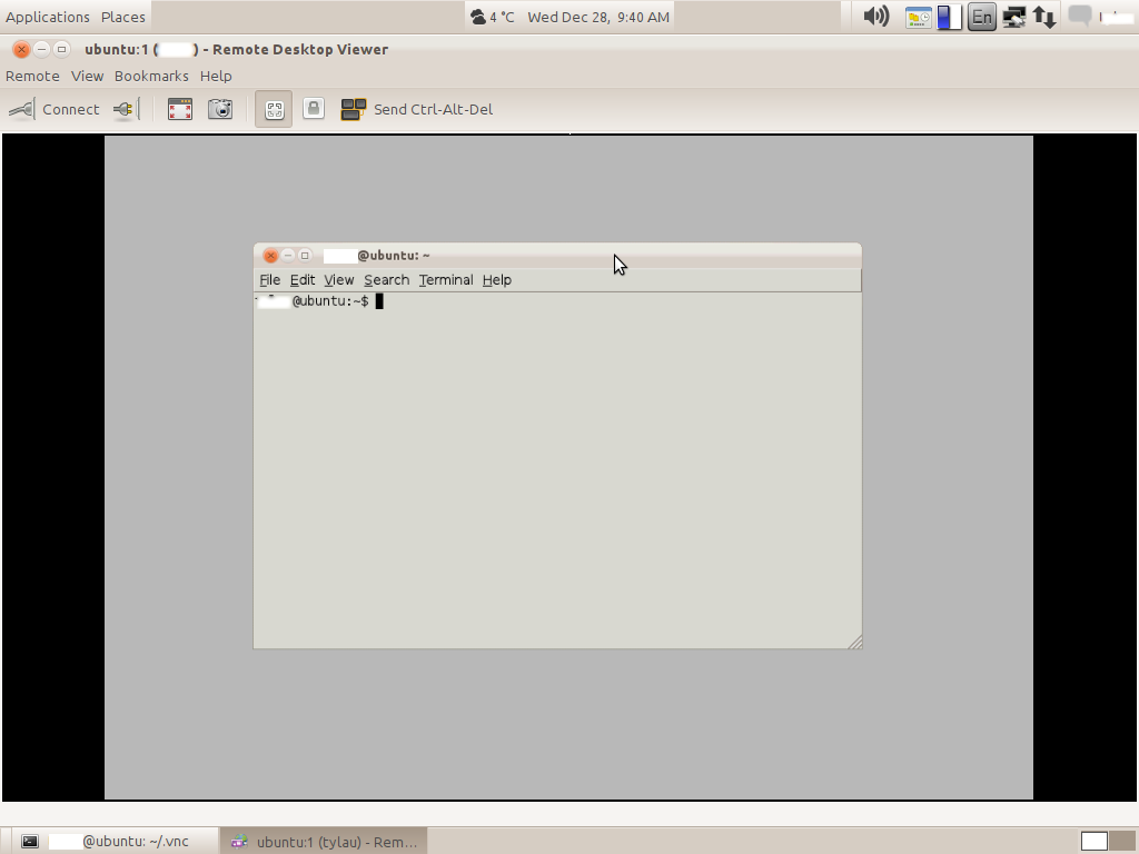 Eddie's Tech Notes: VNC viewer session with gnome session manager on