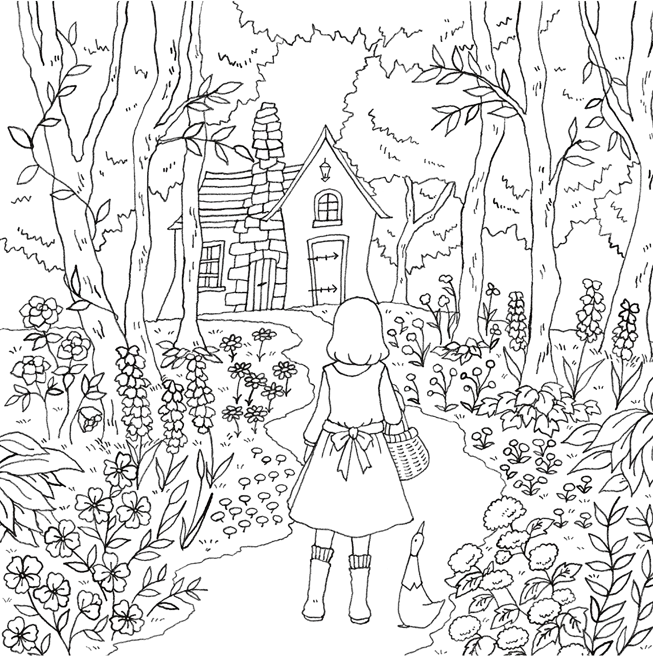 Romantic Country: A Fantasy Coloring Book (낭만주의 국가 : 판타지