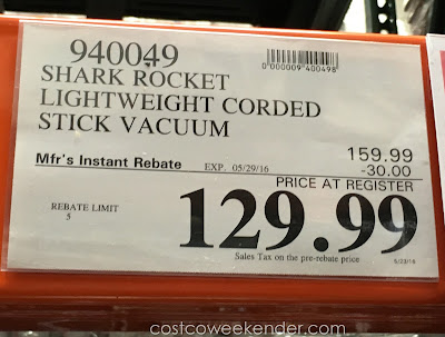 Deal for the Shark Rocket Ultra-Light Upright Vacuum at Costco
