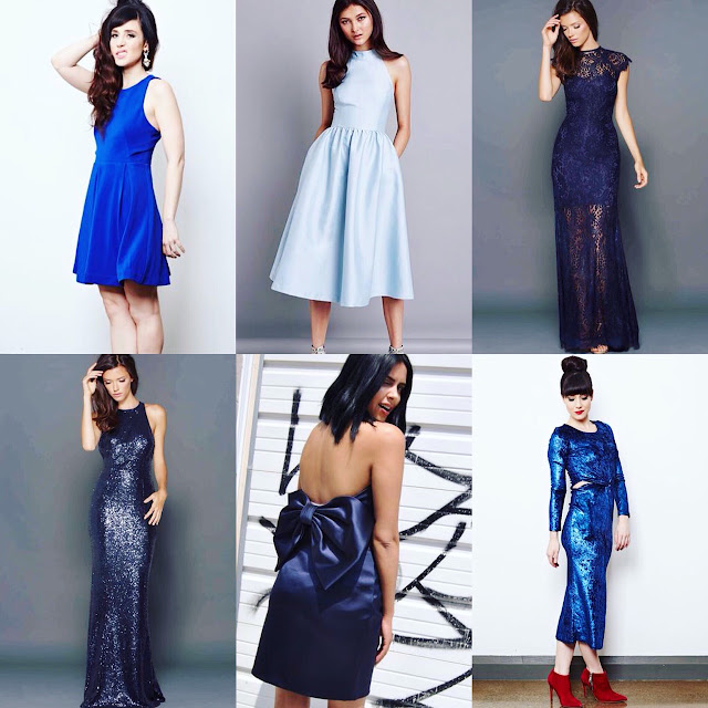 blue dresses and gowns for rent at Studio Fitzroy in Toronto