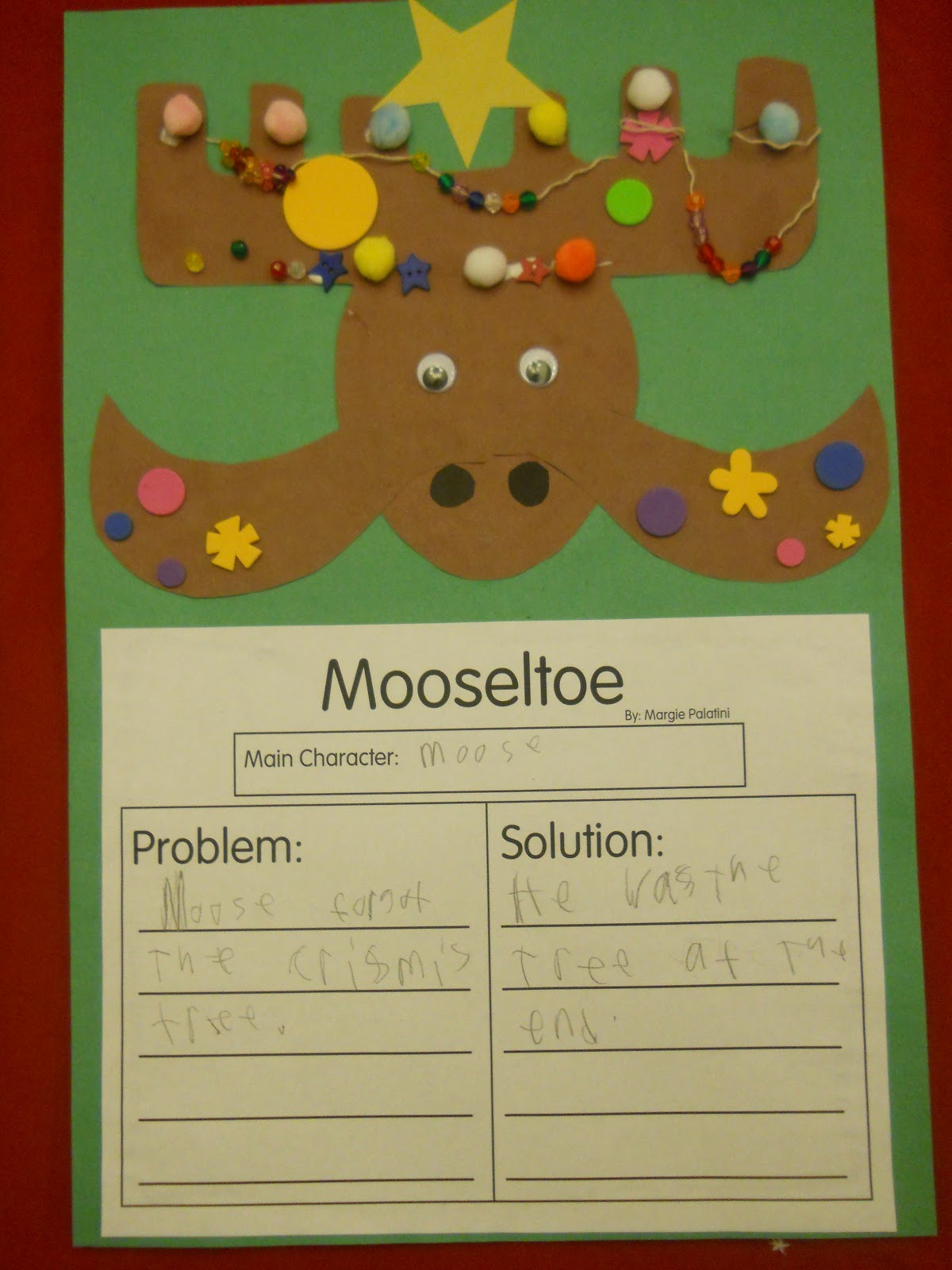 Mrs T S First Grade Class Mooseltoe