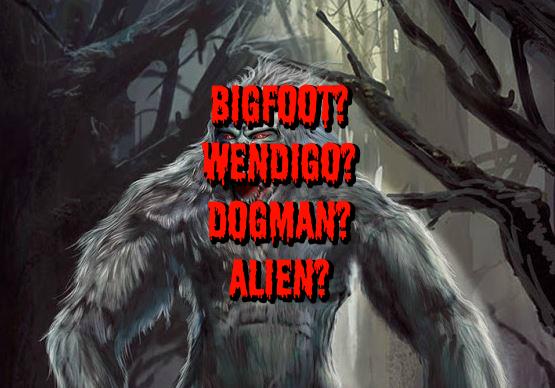 Bigfoot? Wendigo? Dogman? Alien?