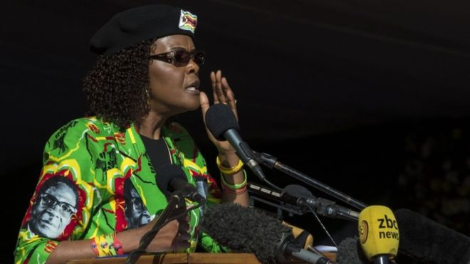 Grace Mugabe's alleged victim in bid to annul immunity