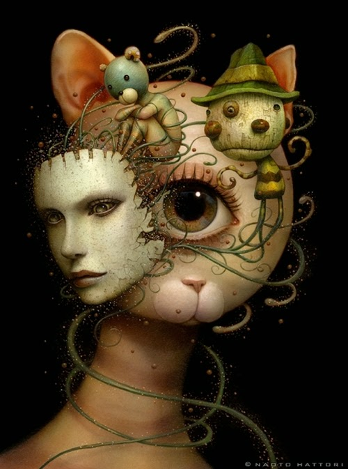 14-Mind-Gazing-Naoto-Hattori-Dream-or-Nightmare-Surreal-Paintings-www-designstack-co