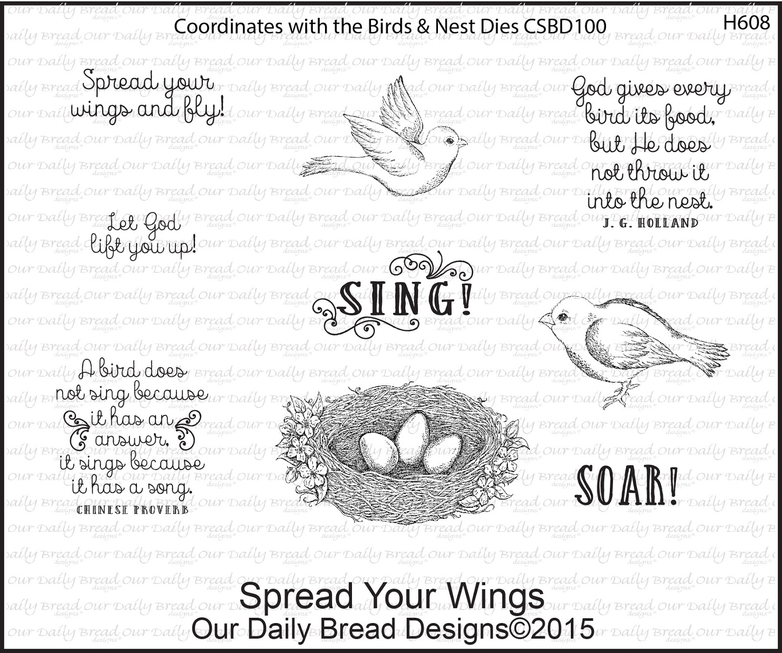 Stamps - Our Daily Bread Designs Spread Your Wings