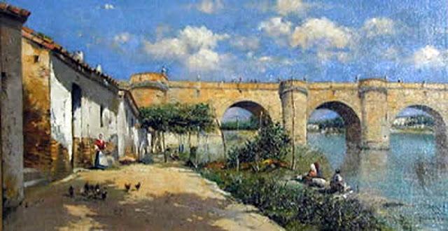 Puente de Toledo, Victor Moya Calvo, Pintor español, Pintores Valencianos, Retratos de Victor Moya Calvo, Pintores españoles, Pintor Victor Moya, Pintores Valencianos