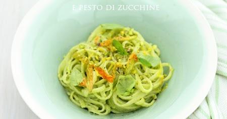 Linguine al limone e pesto di zucchine