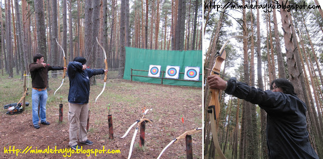 Dando clases de tiro con arco en Gredos, España