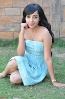 Sahana New cute Telugu Actress in Sky Blue Small Sleeveless Dress ~  Exclusive Galleries 051.jpg