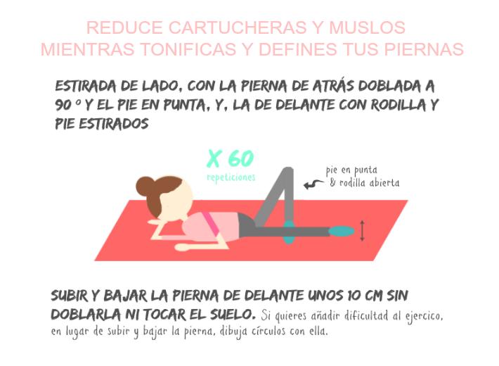 ejercicio para reducir cartucheras y muslos mientras tonificas y defines tus piernas