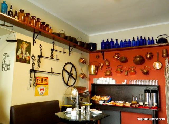 Café da manhã do Hotel Casa Suyay, Miraflores, Lima