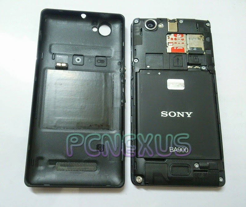 xperia m back cover removed and nfc tag