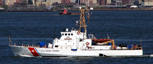 USCGC Bainbridge Island (WPB-1343) in the New York Harbor