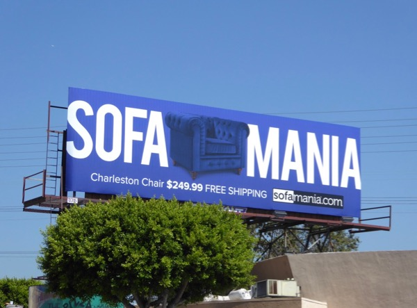 Blue Sofamania Charleston chair billboard