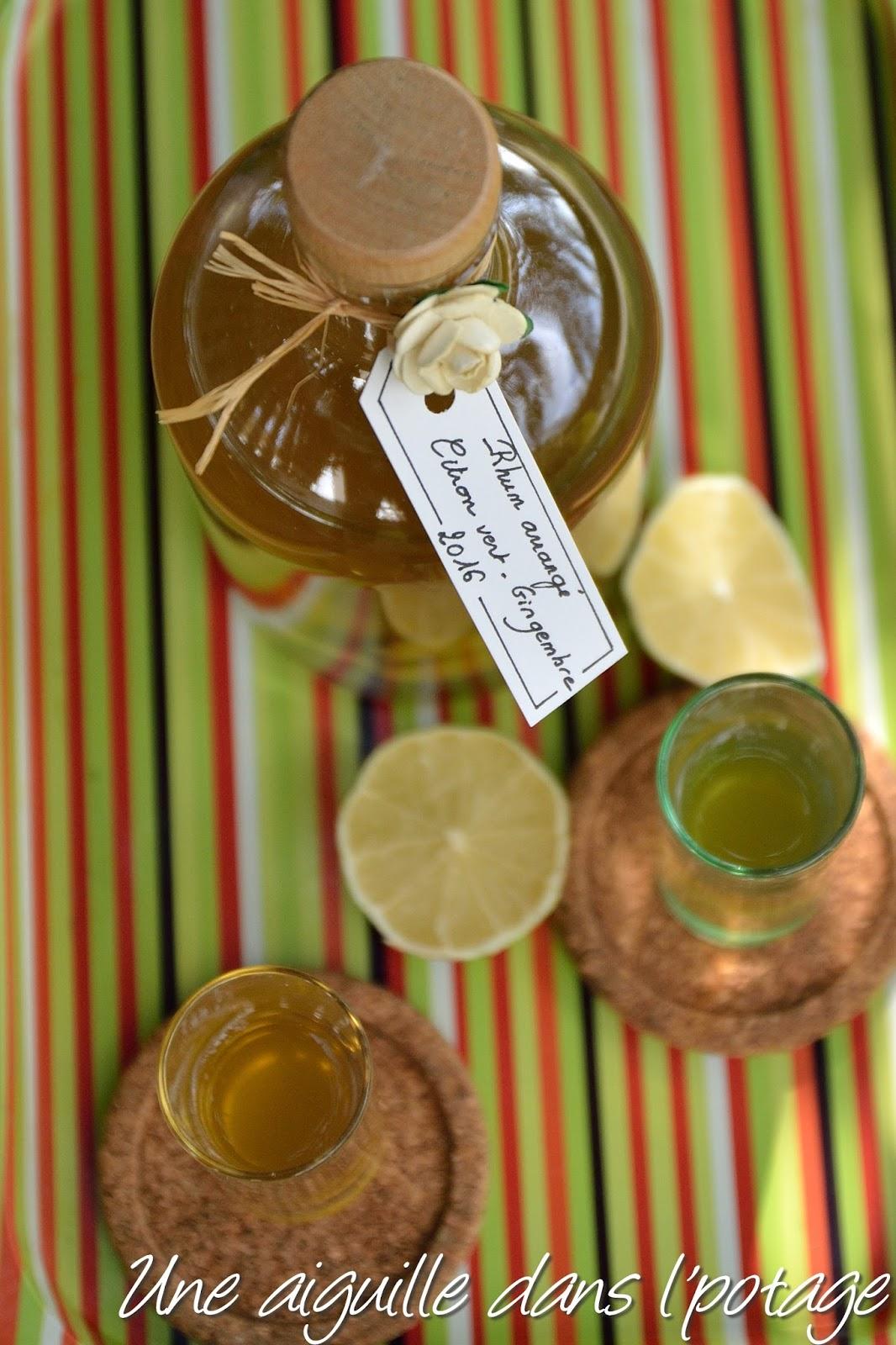 Connu une aiguille dans l' potage: Rhum arrangé citron vert- gingembre KD55