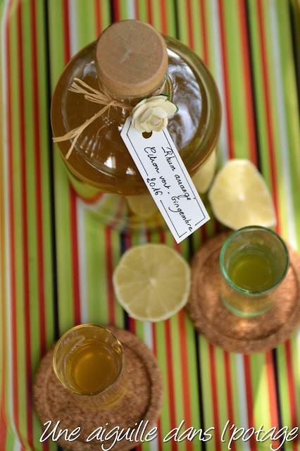 Rhum arrangé citron vert- gingembre recette maison