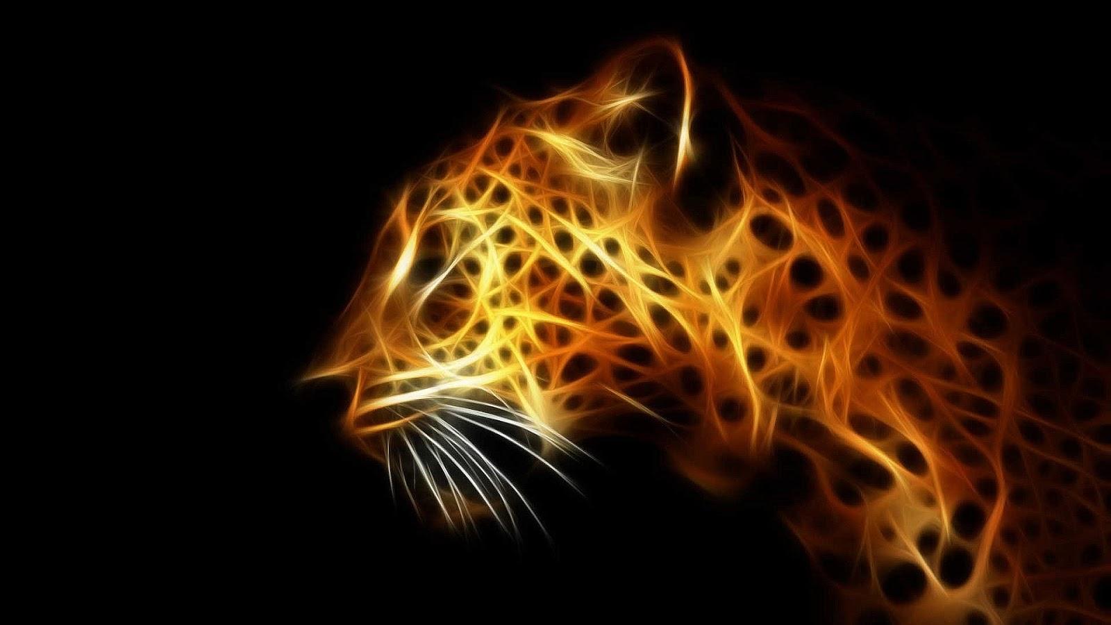 Digital Leopard Art Wallpapers: Papel De Parede Felinos Variados 1920×1080 HD