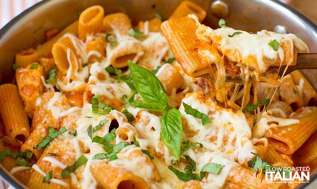 easy chicken recipe with lots of cheese and pasta