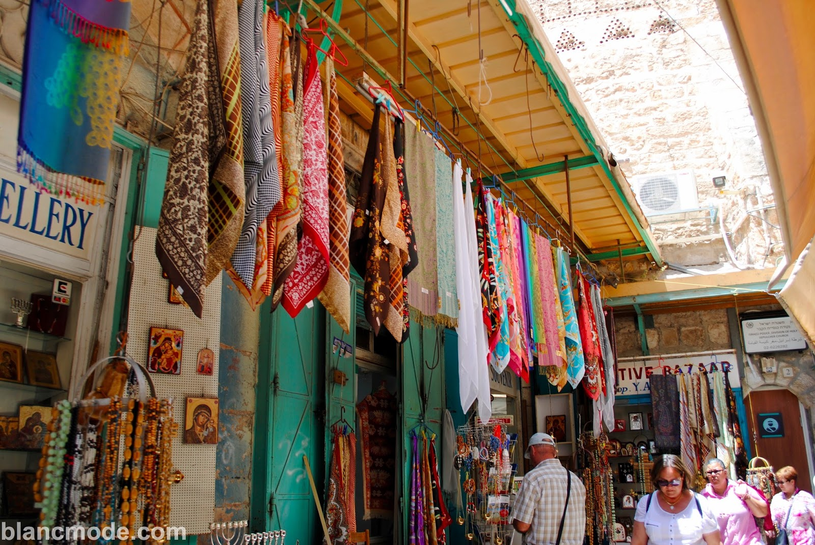 marketplace at the muslim quarter in jerusalem