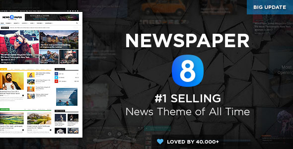 Free download Newspaper V8.2 WordPress theme