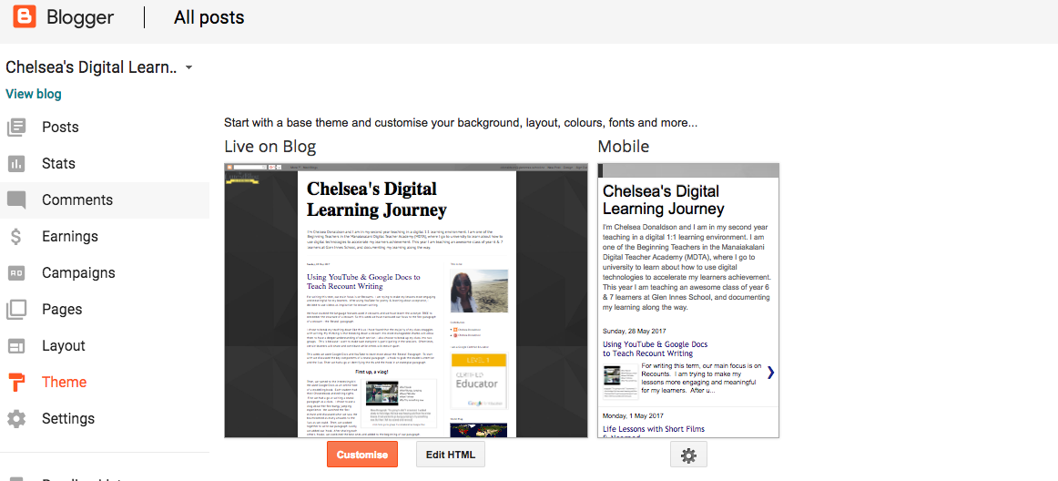 Chelsea's Digital Learning Journey: May 2017