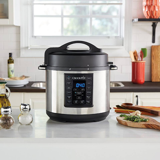 Amazon: Crock-Pot 6 Qt 8-in-1 Multi-Use Express Crock Programmable Slow Cooker only $50 (reg $80) + Free Shipping!