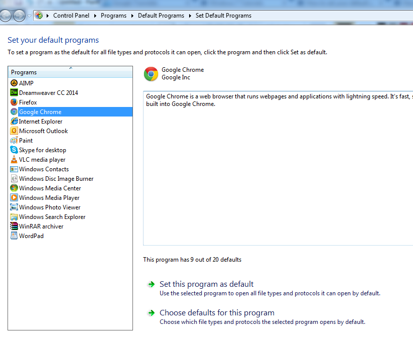 Cara Mengatur Default Program Di Windows 7