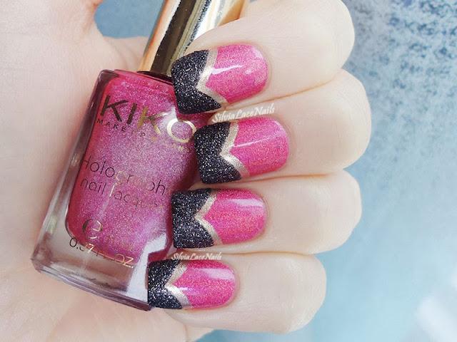 Silvia Lace Nails: elegant textured chevron