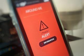 Terror veszélyre figyelmeztető applikáció