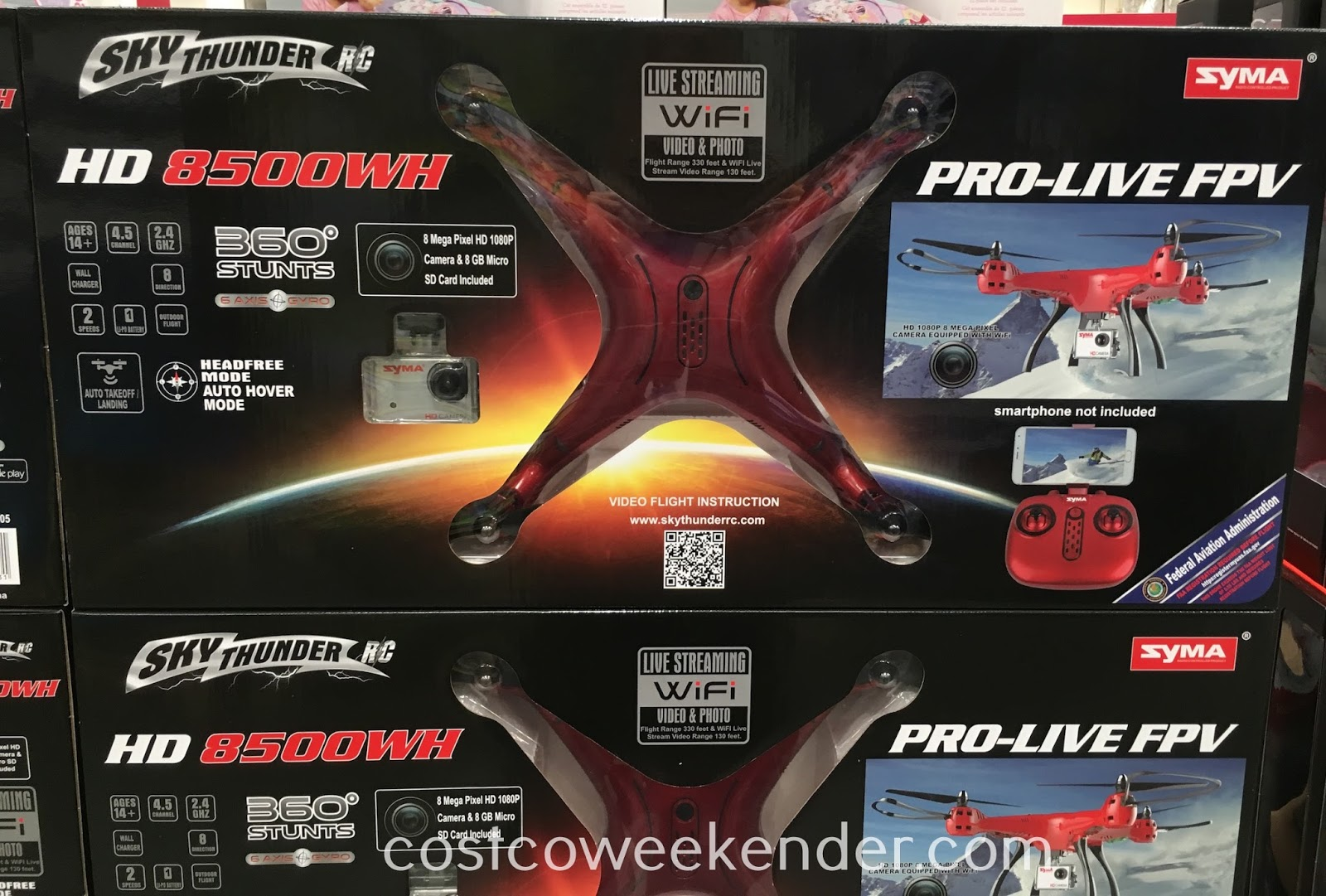 Take flight and get a whole new perspective with the Sky Thunder RC HD 8500WH Drone