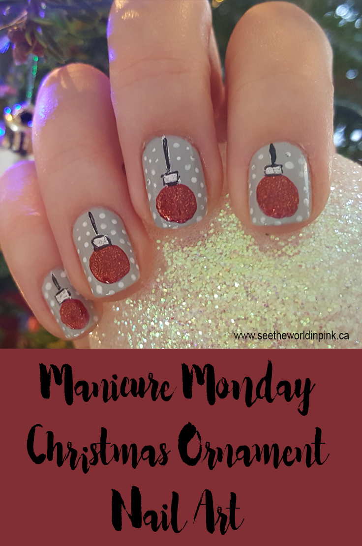 Manicure Monday - Christmas Ornament Nail Art!
