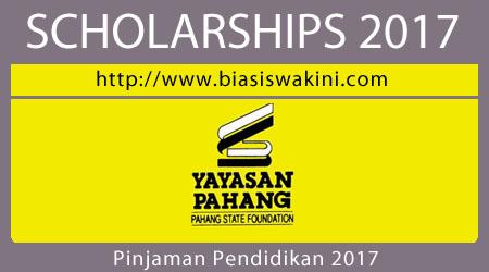 Pinjaman Pendidikan Yayasan Pahang 2017