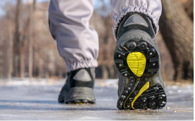 Shoes with proper traction for wet, slippery surfaces