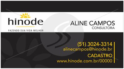 cartao de visita hinode preto - Cartões de Visita Hinode