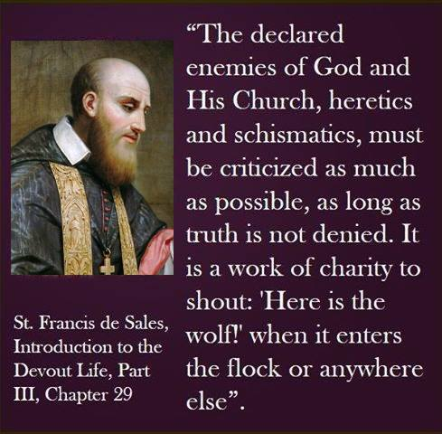 St Francis of Sales pray for us.
