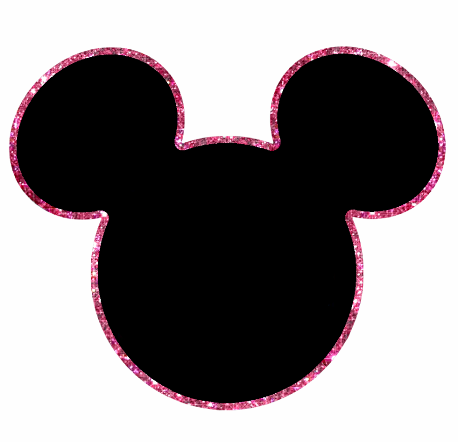 Mickey Heads with Sparkling Border, Free Printables. | Oh ...