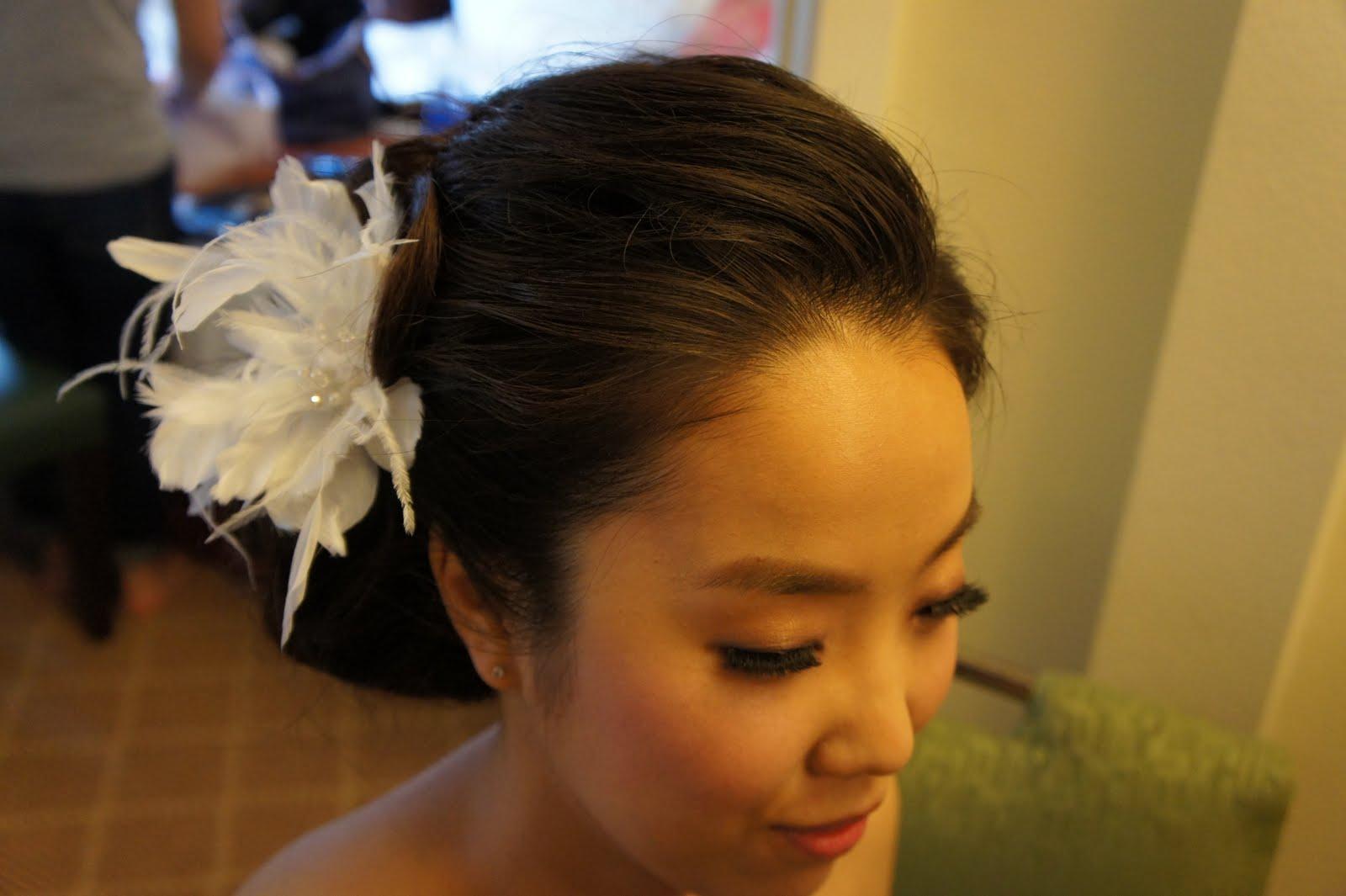 "JENNY O MAKE UP AND HAIR: Jin""s Beautiful Wedding Side Bun ..."