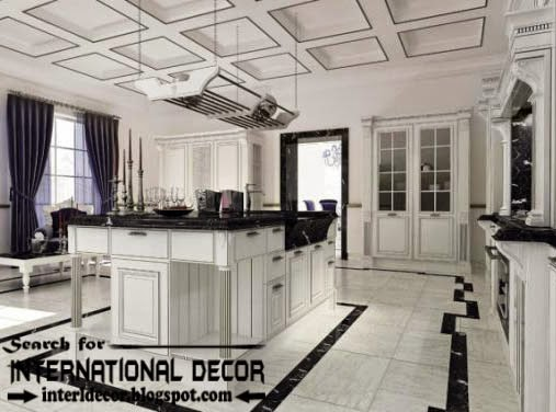 Largest album of modern kitchen ceiling designs ideas tiles - Entrancing home interior design with various modern coffered ceiling ...