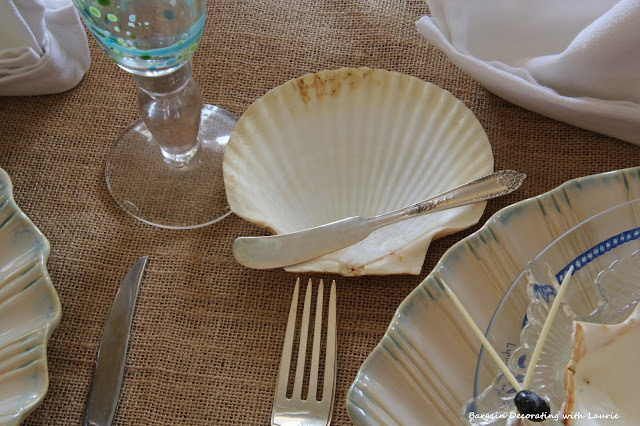 Roll and Butter served in Seashell-Bargain Decorating with Laurie
