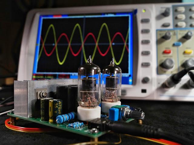 Гибридный усилитель на лампе 6J1 (аналог 6Ж1П) и микросхеме LM1875T