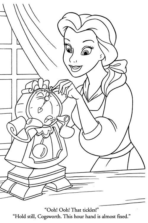 disney princesses belle coloring pages 21 - Coloriages Princesses Disney 2