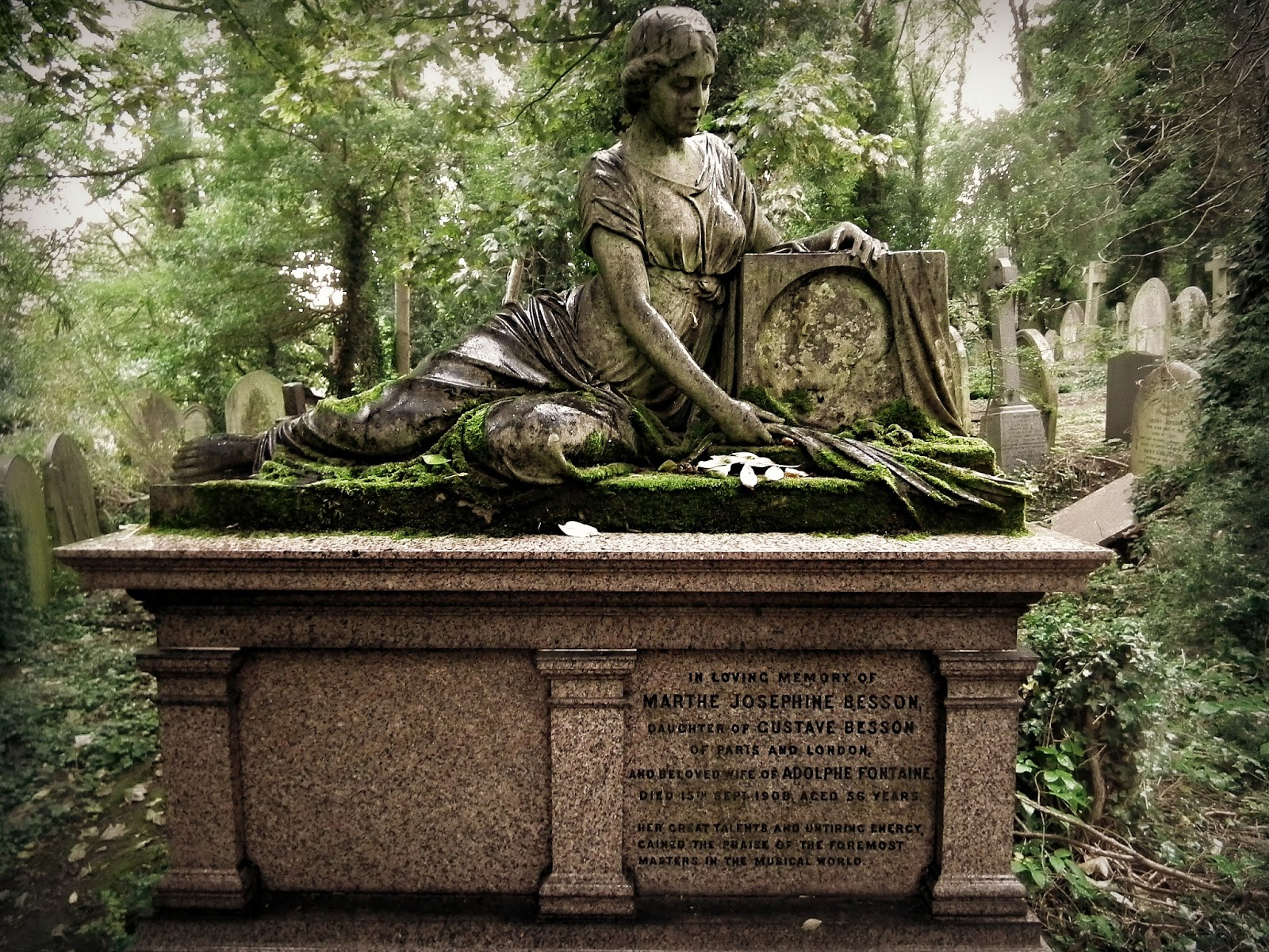 He Sent Forth His Angel With A Great Trumpet; Marthe Josephine Besson  (1852 1908), Highgate East Cemetery