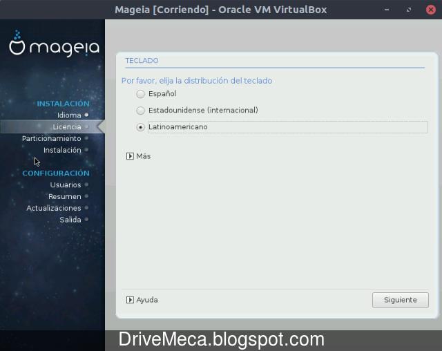 Distribucion de teclado en Mageia Linux
