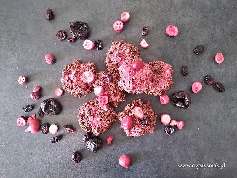 Bezglutenowe ciasteczka z amarantusem i bakaliami