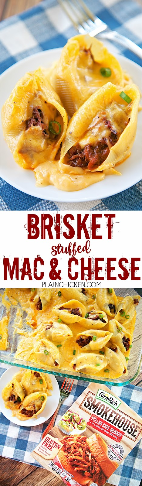 Brisket Stuffed Mac and Cheese - Plain Chicken
