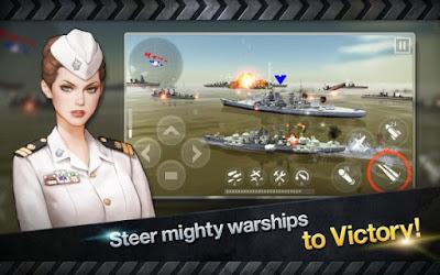 Download WARSHIP BATTLE : 3D World War II Apk v2.2.5 Mod (Unlimited Money) Terbaru 2017
