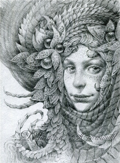 18-Freckles-Olga-Anwaraidd-Drawings-Fantasy-Portraits-Imaginary-Characters-www-designstack-co