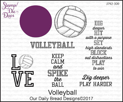 Stamp/Die Duos: Volleyball