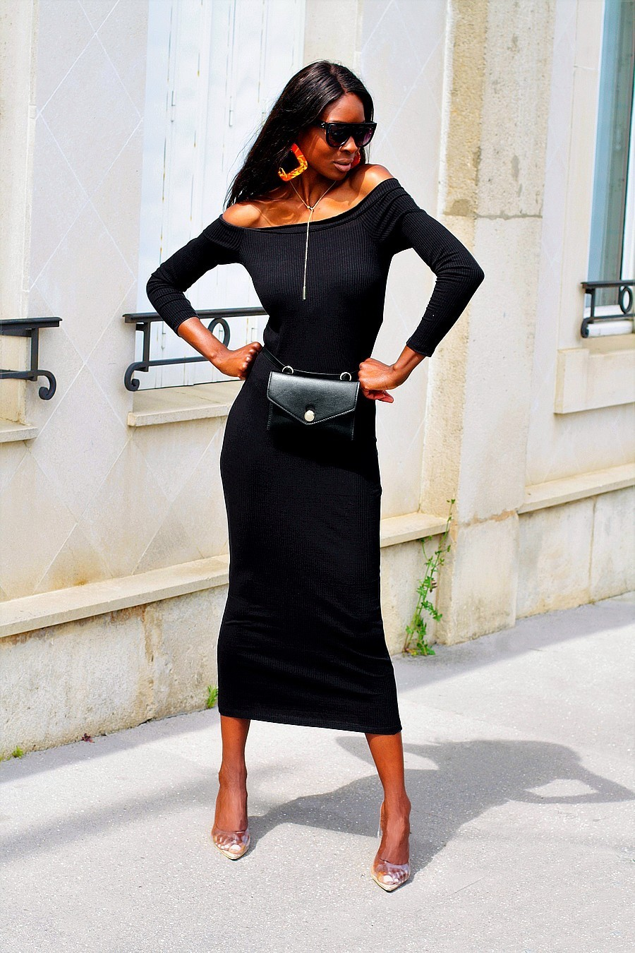 long-sleeve-frills-bardot-dress