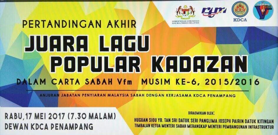 Pertandingan Akhir Juara Carta Lagu Popular Kadazan SabahVfm Musim Ke-6